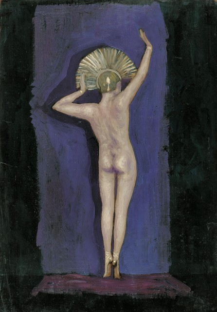 , 'Nude from the Back with Headdress,' ca. 1925, Galerie Bei Der Albertina Zetter