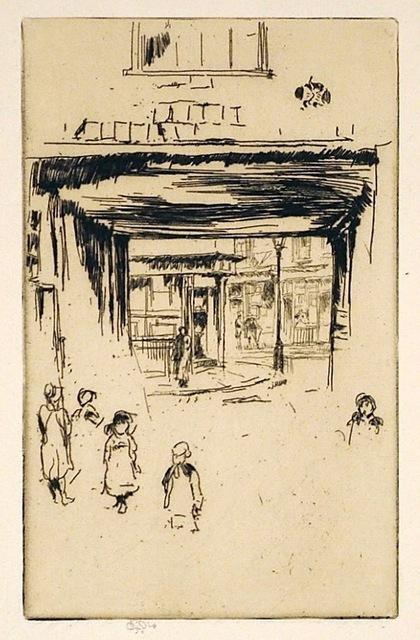 James Abbott McNeill Whistler, 'Drury Lane ', 1880-1881, Harris Schrank Fine Prints
