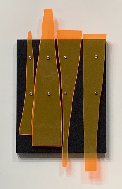 Curtis Taylor, 'Wall Panels', 2019, Sculpture, Grip tape, fluorescent acrylic, aluminum standoffs on wood panel, Dab Art