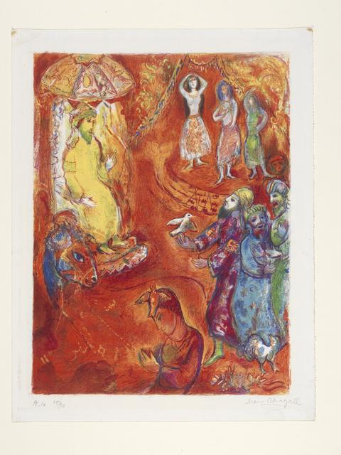 Marc Chagall, 'Now the King Loved Sciend and Geometry', 1948, Indianapolis Museum of Art at Newfields