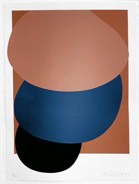 Sir Terry Frost, 'Brown, Blue and Black Descending', 1981, Dellasposa