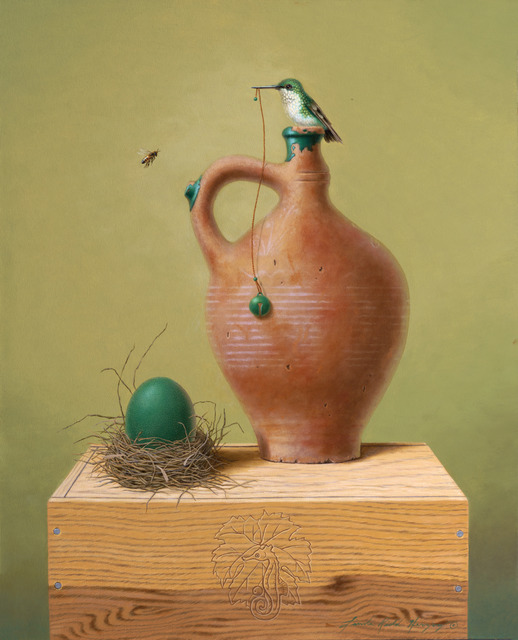 , 'Wine Jug And Two Birds,' Contemporary, ÆRENA Galleries and Gardens