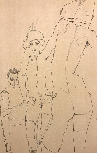 Egon Schiele, 'Schiele Drawing a Nude Model in front of a Mirror', 2007, Wallector