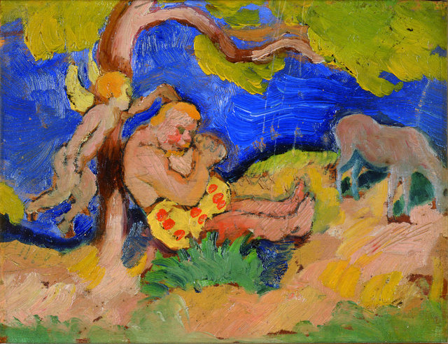 , 'Bacchus under a Tree,' 1912, Galerie Thomas