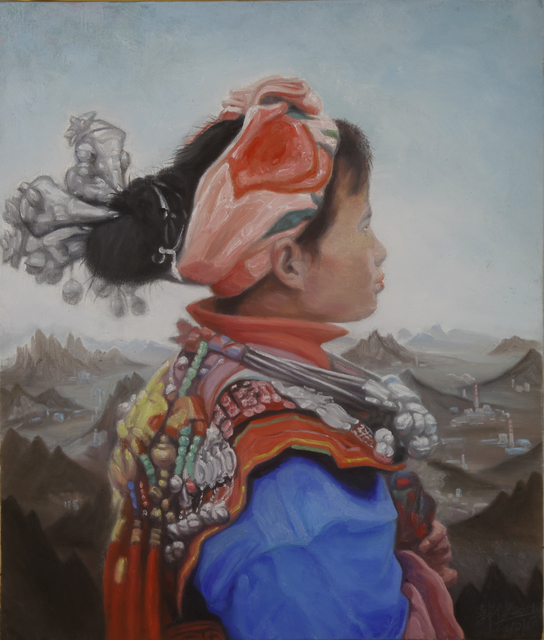 , 'A girl of Miao with landscape background No.1,' 2019, ARC ONE Gallery