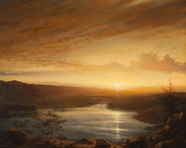 , 'Sunset over Hudson with Olana and Rip Van Winkle Bridge,' , Rehs Contemporary Galleries