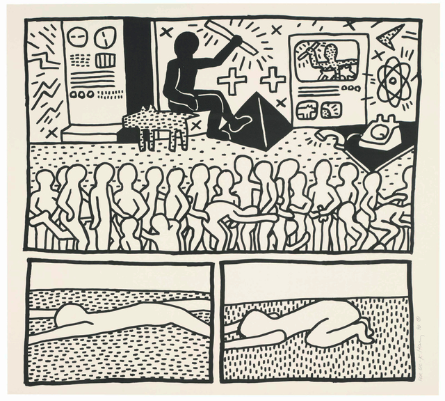 Keith Haring, 'UNTITLED (FROM BLUEPRINT DRAWINGS)', 1990, Gallery Art