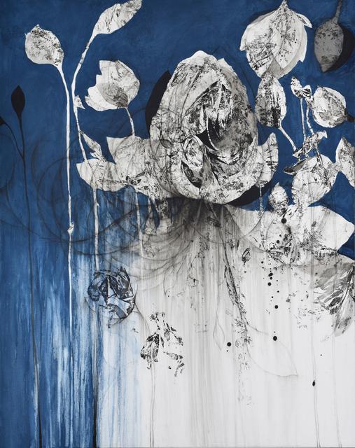 Nathalie Deshairs, 'Variation en bleu', 2019, Painting, Oil on canvas, Bogena Galerie