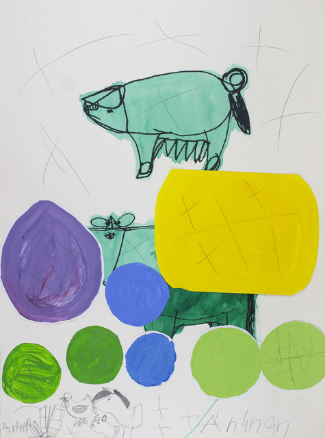 Arunan Dharmalingam, 'Green Pig & Cow', 2017, Studio A