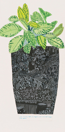 Jonas Wood, 'Black Landscape Pot with Green Plant,' 2014, Sotheby's: Contemporary Art Day Auction