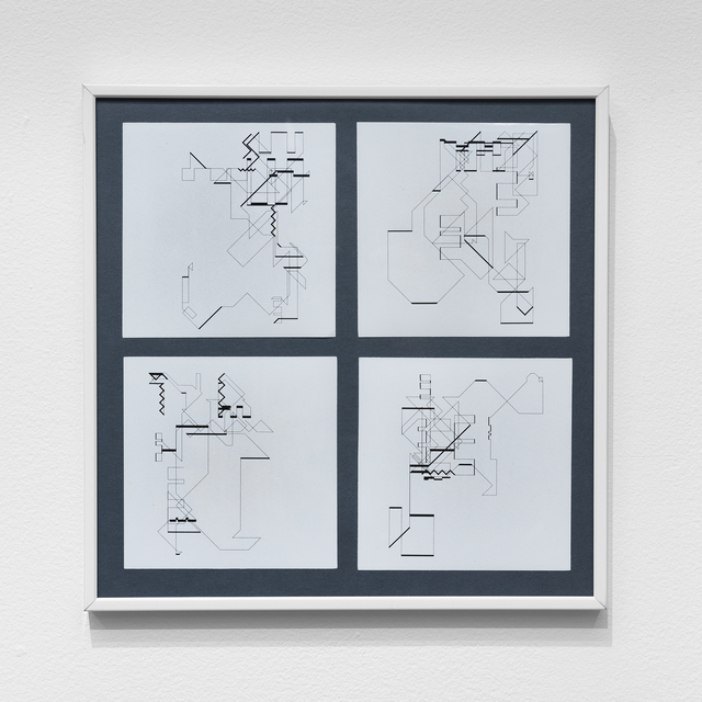 Manfred Mohr, 'P-018-mf_13, 16, 18, 19', 1969, bitforms gallery