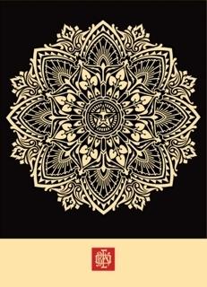 Shepard Fairey (OBEY), 'Mandala Ornament 2 (Black)', 2010, Taglialatella Galleries