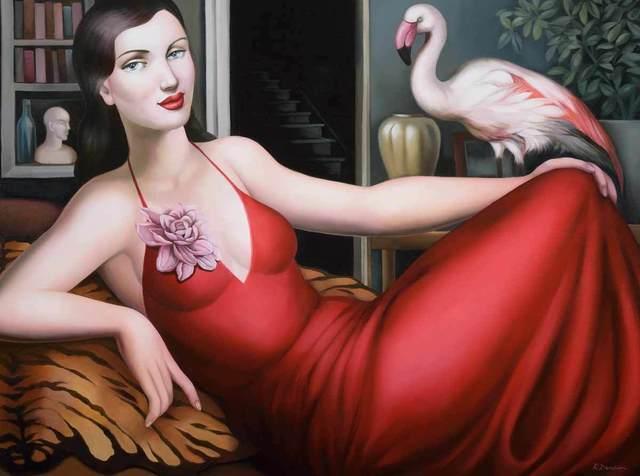 Rachel Deacon, 'The Flamingo Salon ', 2017, Catto Gallery