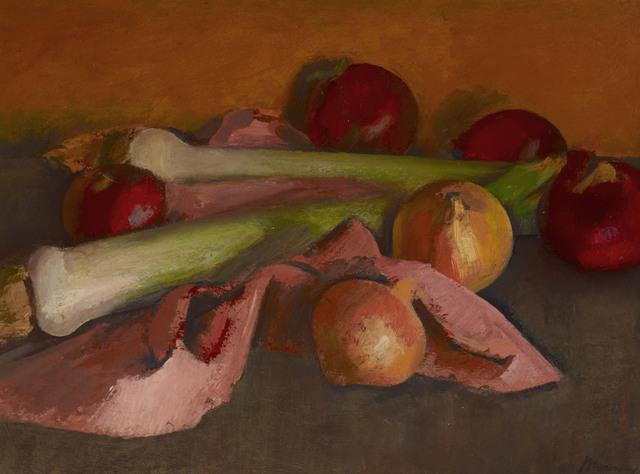 BERNARD MENINSKY, 'Still Life, Onions and Leeks', N.D., Painting, Oil on canvas, Ben Uri Gallery and Museum