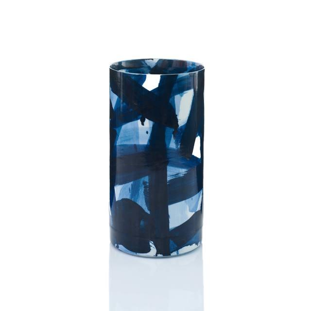 , 'Blue & White Cylinder Vase,' 2015, Adrian Sassoon