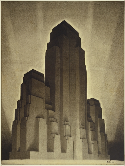 Hugh Ferriss, 'Study for Maximum Mass Permitted by the 1916 New York Zoning Law, Stage 4', 1922, Cooper Hewitt, Smithsonian Design Museum