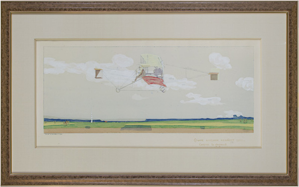 Marguerite Montaut (GAMY), 'Coupe Gordon Bennett 1909 - Curtiss le Gagnant (airplane)', 1909, David Barnett Gallery
