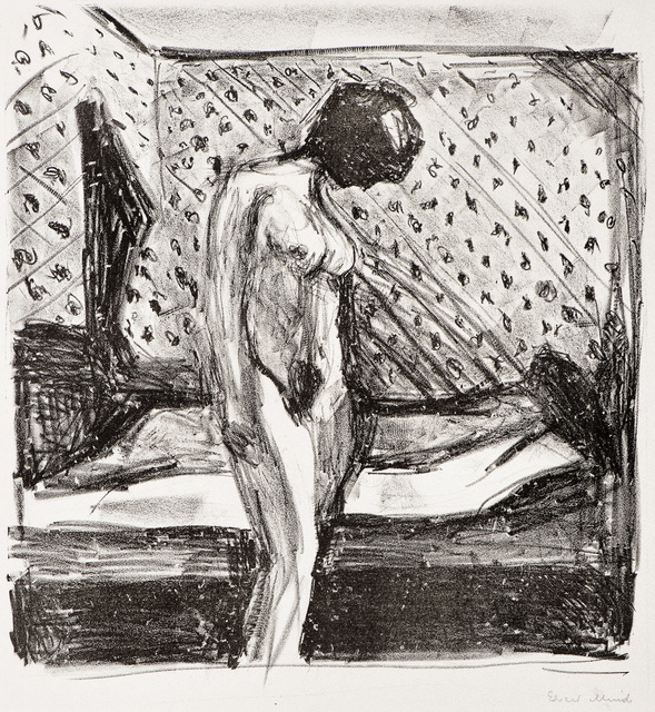 , 'Gråtende ung kvinne ved sengen (Weeping Young Woman by the Bed),' 1930, John Szoke