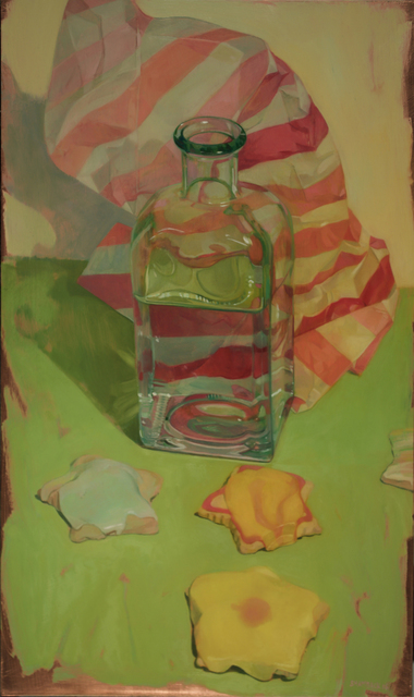 , 'Star Cookies and Bottle with Wrapping Paper,' 2016, LeMieux Galleries