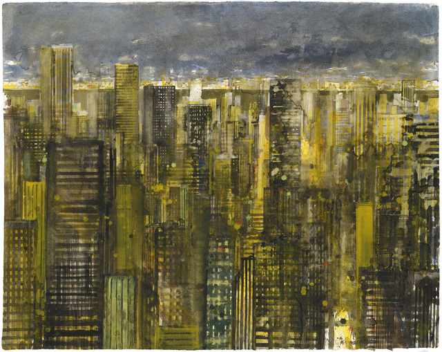 , 'NY at night I,' 2014, Galerie Arcturus