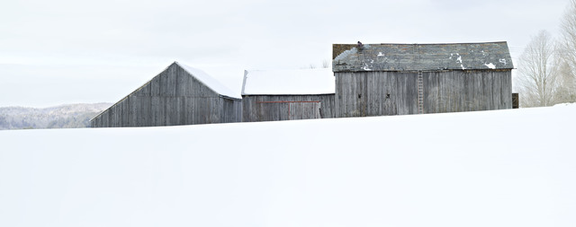 , 'Winter Barnscape,' 2017, West Branch Gallery