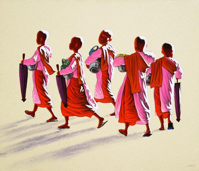 Min Wae Aung, 'Nuns on the morning round', 2012, Tanya Baxter Contemporary