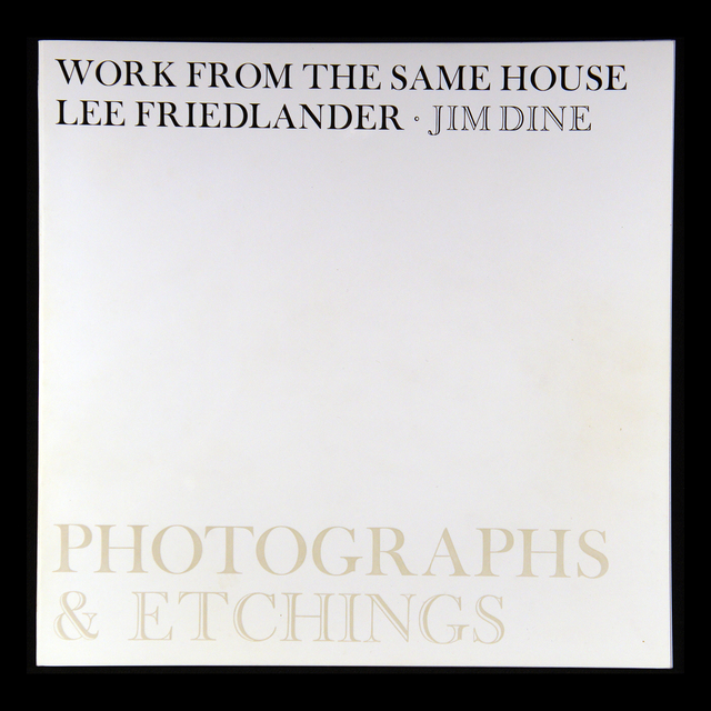 , 'Work From the Same House,' 1969, Haywire Press
