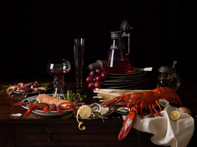 , 'Still Life with Lobster and Crayfish,' 2019, Robert Mann Gallery