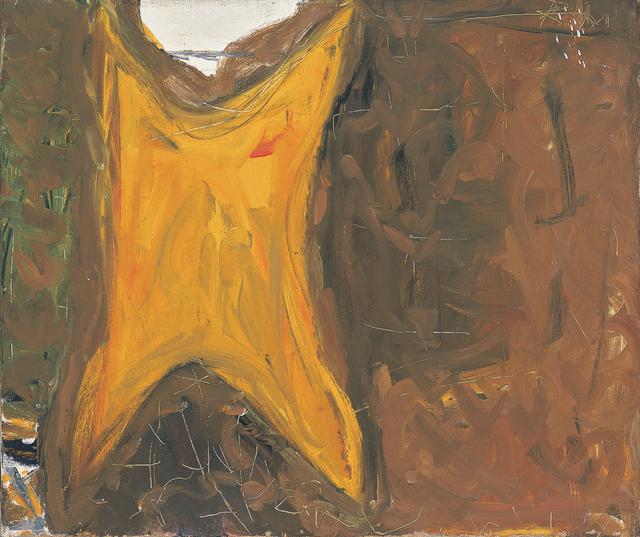 Robert Motherwell, '[Untitled (Orange, Brown)]', ca. 1951, Dedalus Foundation