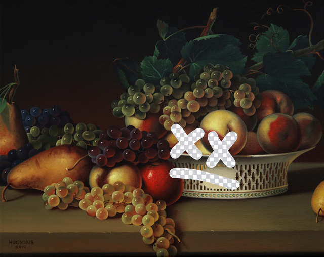 Shawn Huckins, 'Tiny Dissatisfied Still Life (Fruit In A Chinese Export Basket, White House Art Collection Erasure No. 29)', 2019, Foster/White Gallery