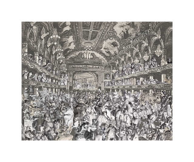 Peter Blake, 'Marcel Duchamp's World Tour- The Animal's Fancy Dress Ball at Tower Ballroom, Blackpool', 2015, CCA Galleries