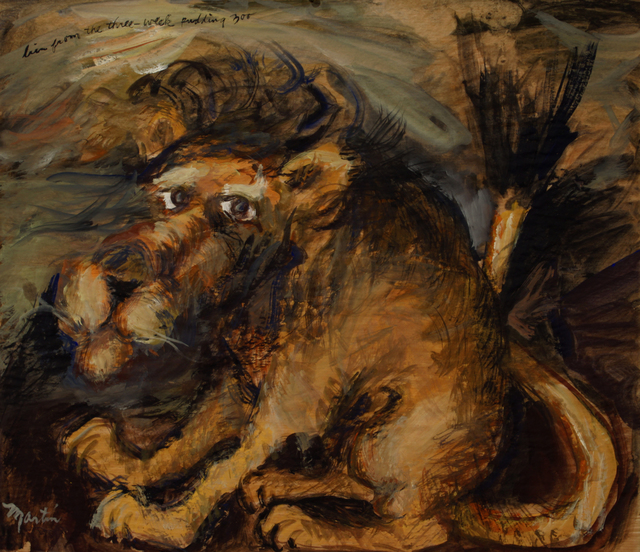 James Martin, 'Lion from the Three Week Pudding Zoo', Foster/White Gallery
