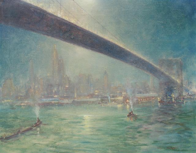 , 'Bridge Nocturne,' ca. 1945, Caldwell Gallery Hudson