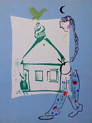 Marc Chagall, 'The House in my Village', 1960, Print, Lithograph printed in colors on wove paper, Galerie d'Orsay