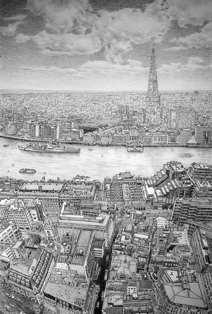 , 'The Shard & Thames From The Sky Garden,' 2016, Rebecca Hossack Art Gallery