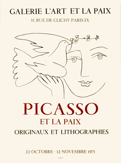 Pablo Picasso, 'L'Art et la Paix', 1971, ArtWise