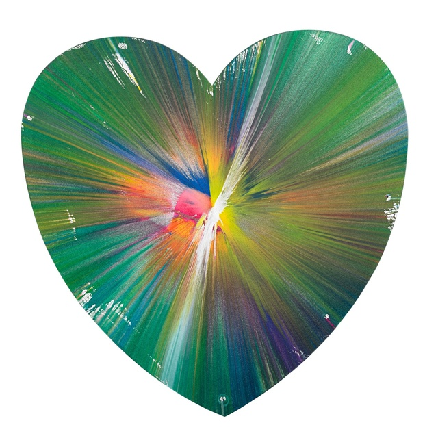 , 'Heart Spin Painting (Created at Damien Hirst Spin Workshop),' 2009, Omer Tiroche Gallery