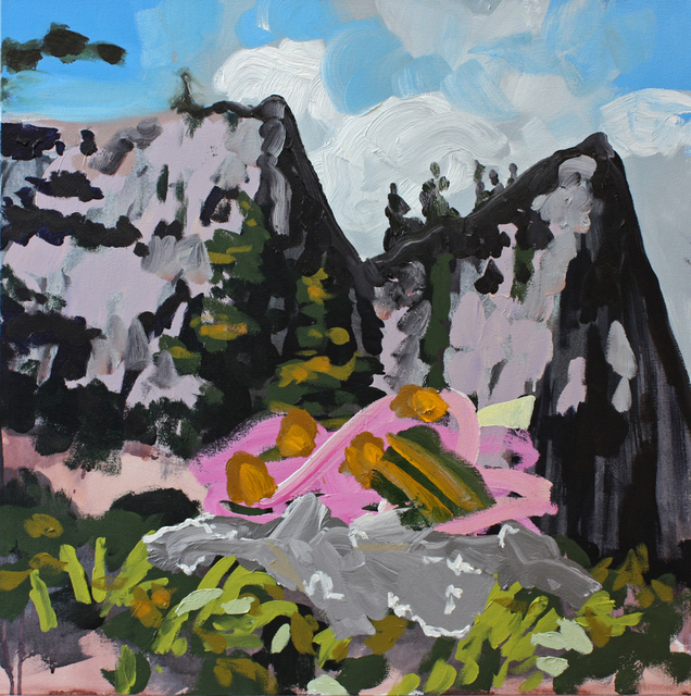 , 'Yosemite Peaks with Pink + Foil (brutal nesting habits),' 2014, G. Gibson Gallery