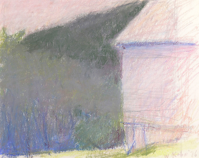 Wolf Kahn, 'LOOKING DOWN FROM THE BARN', 1976, Jerald Melberg Gallery