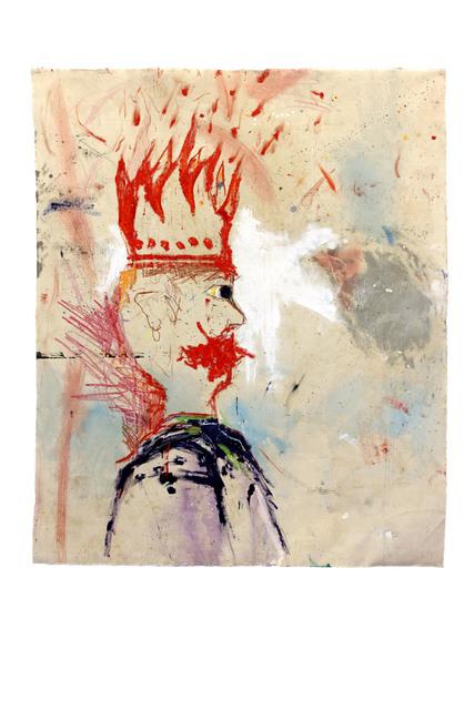 Richard Mason, 'KING', 2019, Painting, Acrylic, pencil and crayon on canvas, 99 Loop Gallery