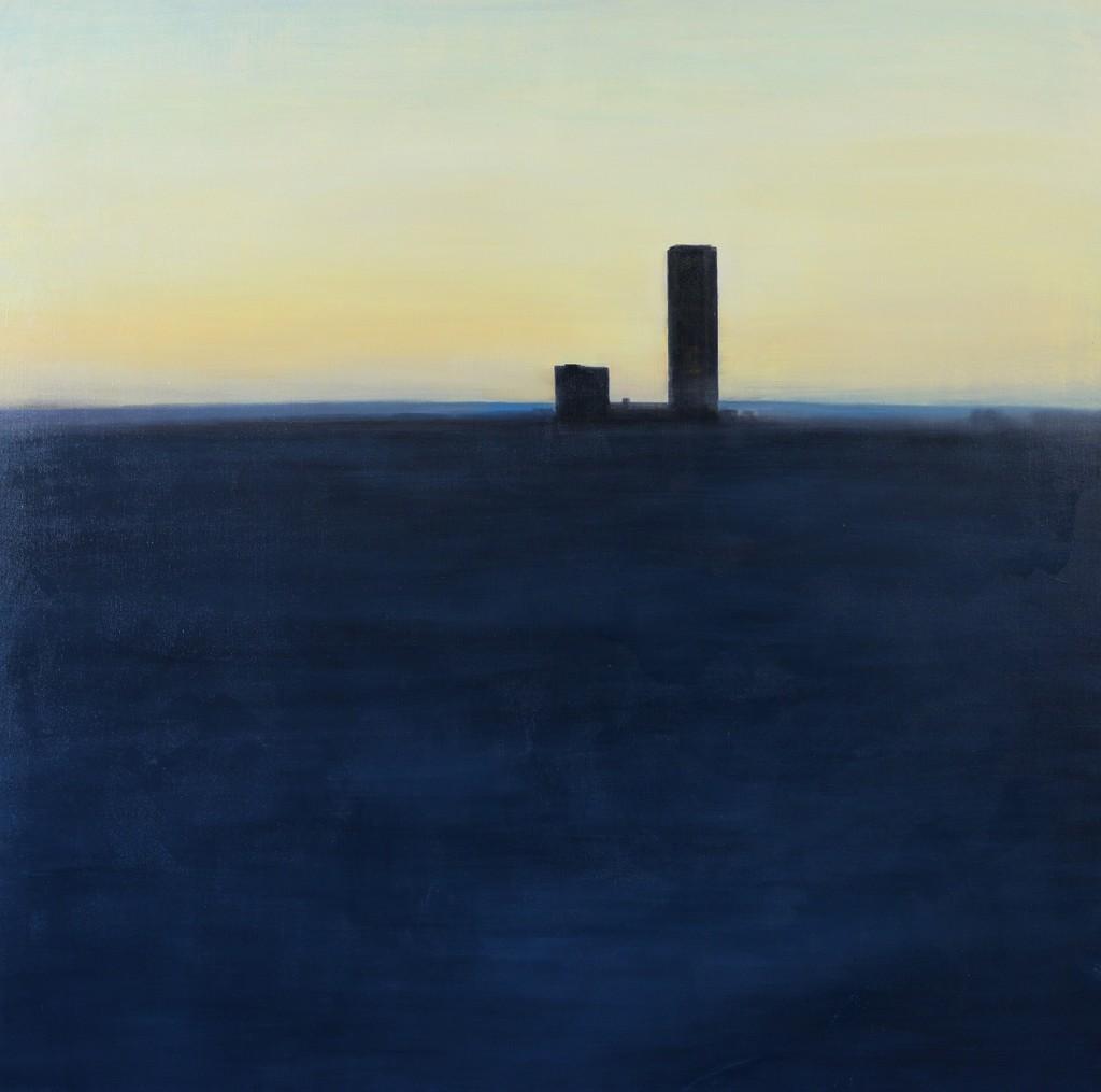 EVGENIYA BURAVLEVA. At 6 p. m. 2014. Painting. Oil on canvas