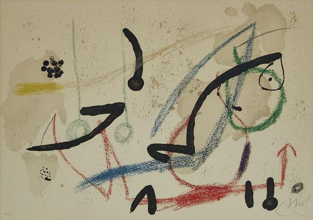 Joan Miró, 'Pl. 9 (From Maravillas Con Variaciones Acrósticas En El Jardin De Miró)', 1975, Waddington's