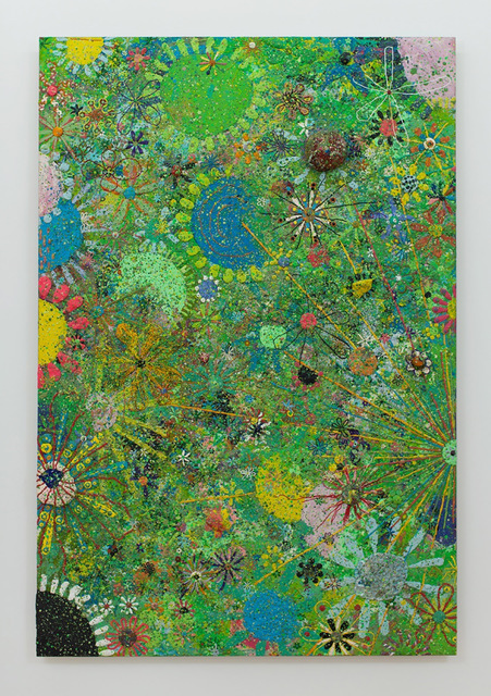 Gelitin, 'Flower Painting', 2011, Sculpture, Plasticine on wood, Perrotin