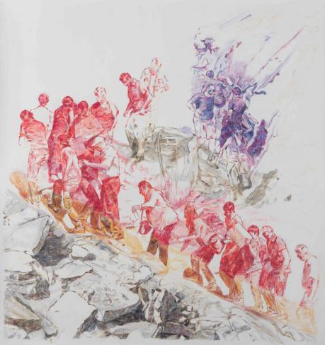 , 'Çapraz Tırmanış II / Criss Cross Climbing II,' 2014, Galeri Miz