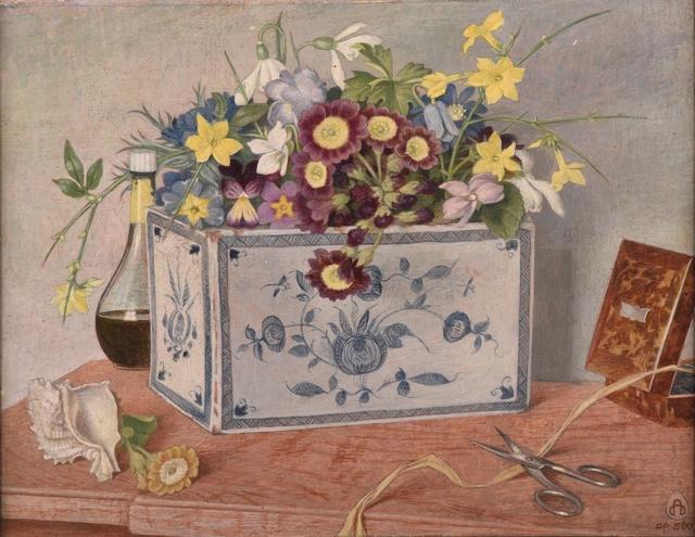 Maxwell Ashby Armfield, 'Pot of Delfts Blue', 1881-1972, Liss Llewellyn