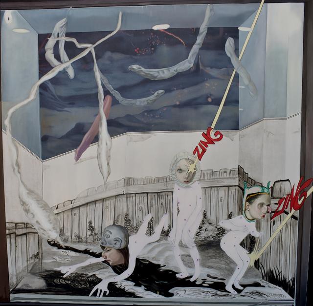 Carolina Muñoz, 'Mujeres del Espacio', 2020, Painting, Oil on canvas, Isabel Croxatto Galería
