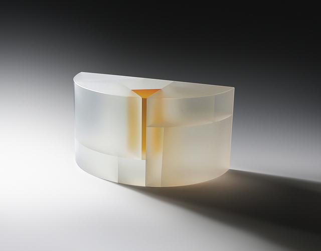 , 'White-Orange Segmented Half Cylinder,' 2015, Duane Reed Gallery
