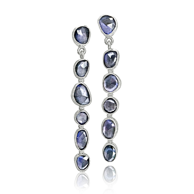 , 'Faceted Violet Blue Sapphire Drop Earrings,' 2017, Szor Collections