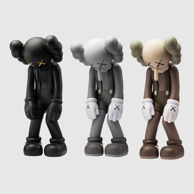 KAWS, 'Set of three Small Lies (Black ; Grey ; Brown)', 2017, Barter Paris Art Club