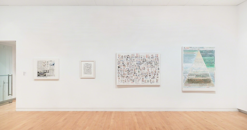 William Powhida: After the Contemporary, installation view, 2017. The Aldrich Contemporary Art Museum, Ridgefield, CT. Photo: Tom Powel Imaging.